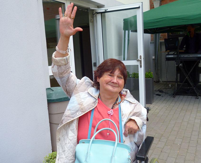 Bewohnerin des Pflegeheims Haus Beatrix in Geilenkirchen